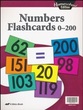 Abeka Homeschool Numbers Flashcards 0-200