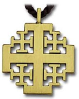 Bronze Jerusalem Cross Pendant