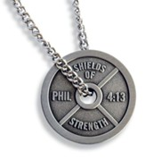 Men's Weight Plate Antique Finish-Phil 4:13