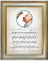 Grandma's Heart, Pray Photo Frame