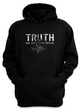 Truth Has Never Been Popular, Hooded Sweatshirt, Black, Large