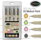 PIGMA Micron 05/005 Bible Note Pens, Set of 4