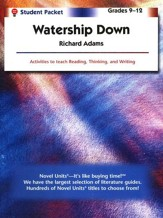 Watership Down, Novel Units Student  Packet, Grades 9-12