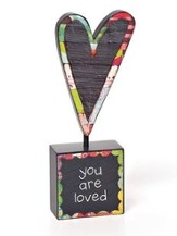 You Are Loved, Heart Tabletop Sculpture