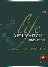 NLT Life Application Study Bible, Large Print Hardcover - Slightly Imperfect