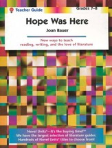 Hope was Here, Novel Units Teacher's Guide, Grades 7-8
