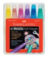 Metallic Gel Crayons, Pack of 6