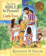 New Bible in Pictures for Little Eyes Gold Gift Edition  - Slightly Imperfect