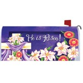 He Is Risen, Floral Cross Mailbox Cover