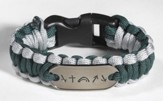 Survival Bracelet, Green and Gray