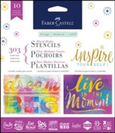 Inspirational Collection Stencils, Pack of 10