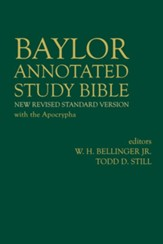 NRSV Baylor Annotated Study Bible with the Apocrypha,  Hardcover