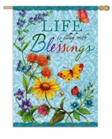 Life Is Filled With Blessings Flag, Large
