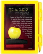 Teacher A Caring Heart Note Pad with Pen