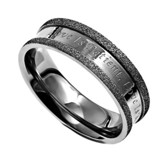 Love Never Fails, Silver Champagne Women's Ring, Size 7 (1Corinthians 13:4-8)