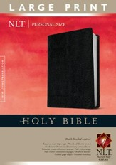 NLT Personal Size Bible - Large Print Bonded Black - Slightly Imperfect