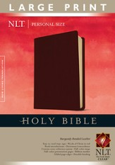 NLT Personal Size Bible - Large Print Bonded Burgundy - Slightly Imperfect