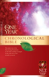 The NLT One Year Chronological Bible - hardcover