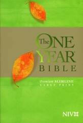 The NIV One Year Bible Premium Slimline - Large Print softcover - Slightly Imperfect