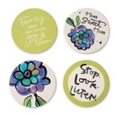 Family Coasters, Set of 4 Assorted