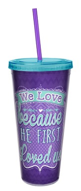 We Love, 24 oz Acrylic Tumbler w/ Straw