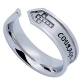 Courage and Trust Nexus Women's Ring, Size 5 (Deuteronomy 31:6-8)