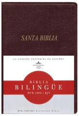Biblia Bilingue RVR 1960-KJV, Piel Imit. Rojizo  (RVR 1960-KJV Bilingual Bible, Imit. Leather Burgundy)