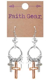 Mixed Crosses Earrings