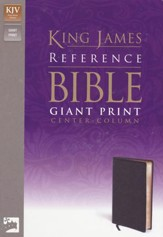 KJV Giant Print, Center-Column Reference, premium leather look black