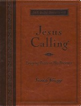 Jesus Calling, Large-Print Deluxe Edition--imitation leather, amber