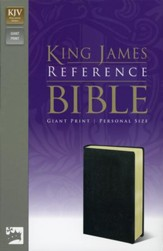 KJV Personal-Size Giant Print Reference Bible Imitation Leather, Black