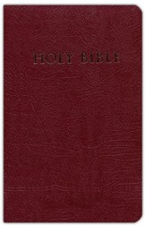 KJV Giant Print Reference Personal Size, imitation burgundy - Slightly Imperfect