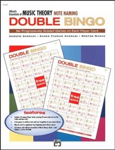 Essentials of Music Theory, Note Naming Double Bingo Game