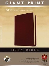 Holy Bible, Giant Print NLT, Bonded Burgundy Leather,  Thumb-Indexed