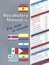 Por todo el mundo Spanish Year 1 Vocabulary Manual