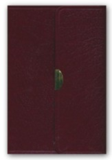 KJV Compact Reference Bible, Button Flap, Immitation Burgundy Leather