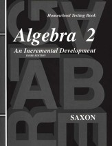 Saxon Algebra 2, 3rd Edition, Test  Forms