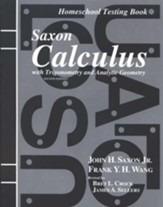 Saxon Calculus Test Forms, 2nd  Edition