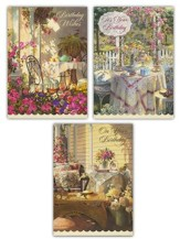 Time for Tea Birthday Cards, Box of 12