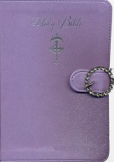 NKJV Princess Bible--imitation leather, lavender