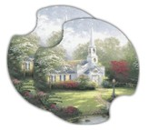 Thomas Kinkade Hometown Chapel, Car Cup Holder Stone