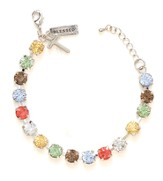 Rhinestone Bracelet with Charm, Multi