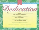 Dedication Certificate, Marble-Look, 6-Pack