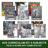 ACE PACEs Grade 4 6-Subject PACEs &  Keys Curriculum Kit