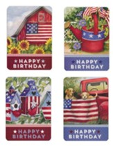 Happy Birthday, All American Birthday Cards, Box of 12