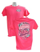 Blessed Mom Shirt, Coral, XX-Large (50-52)