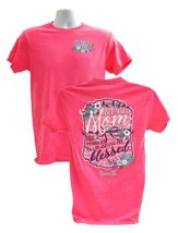 Blessed Mom Shirt, Coral, Medium (38-40)