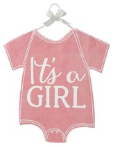 It's A Girl Baby Crawler Decorative Flag, Pink