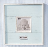 So Loved, Distressed Photo Frame, Blue
