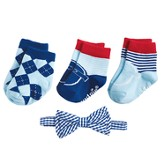 Sock & Bow Tie Gift Set, Gingham